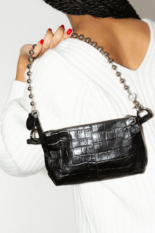 Ball'n'chain ed.1 crocodile black